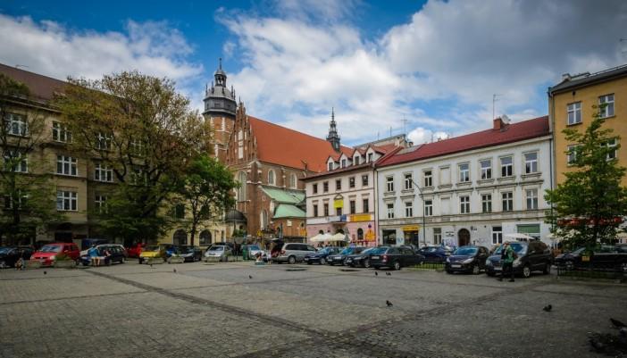 beautiful marketplace in Krakow
